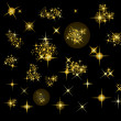 Stock Vector: Set of vector stars
