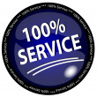 Stock Vector: 100% Service Button