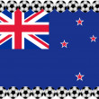Soccer New Zealand - Stockvektor