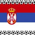 Soccer Serbia — Stock Vector