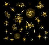 Verzameling van vector sterren — Stockvector
