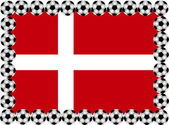 Soccer Denmark — Stock Vector