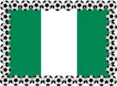 Soccer Nigeria — Stock Vector