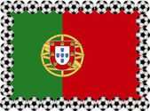 Soccer Portugal — Stock Vector