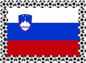 Soccer Slovenia — Stock Vector