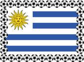 サッカー ウルグアイ — ストックベクタ