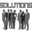 Business slogan Solutions — Stock Photo