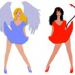 Sexy Angel and Devil — Stock Photo #1780993