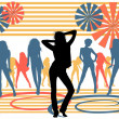 Stock Photo: Dancing girls Background