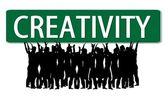 Affaires slogan créativité roadsign — Photo