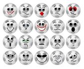 Soccer ball smileys — Stock Photo