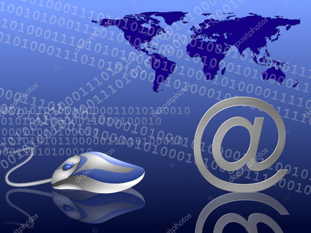 Email themed background blue — Stock Photo © pdesign #1780460