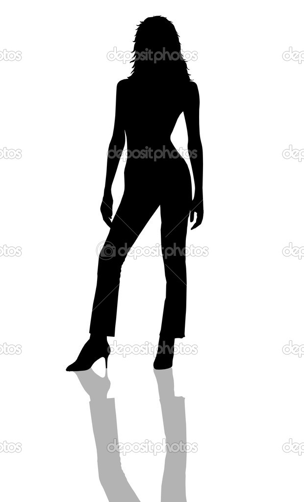 Sexy Lady Silhouette with shadow — Stock Photo #1780860