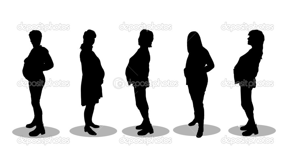 Pregnant Women Silhouettes — Stock Photo #1780877