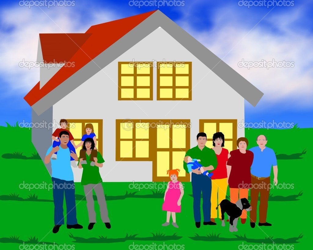 Family in front of a house stock photo pdesign 1781119 - Houses for families withchild ...