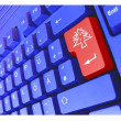 Special PC Keyboard Christmas Tree — Stock Photo #1825451