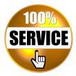 Stock Photo: 100% Service Button