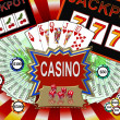 Background with casino symbols — Stock Photo #1828802