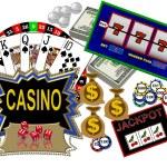 Background with casino symbols — Stock Photo