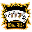 Royal Flush Logo black - Stock Photo