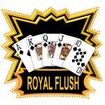 Royal Flush Logo black — Stock Photo