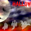 Scary Hallowen scene background — Stock Photo