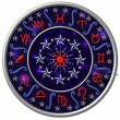 Zodiac Disc blue — Stock Photo #1829042