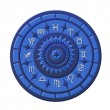 Stock Photo: Zodiac Disc blue