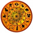 Zodiac Disc gold - Stock Photo