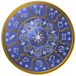Royalty-Free Stock Photo: Zodiac Disc blue