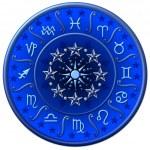 Zodiac Disc blue — Stock Photo