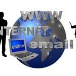 Internet themed background — Stock Photo