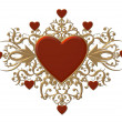 Stock Photo: Red heraldic heart