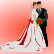 Stock Photo: Wedding Couple Background