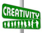 Business Motivation Sign Creativity — Stock Photo