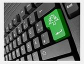 Speciale pc toetsenbord kerstboom — Stockfoto