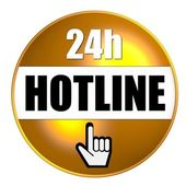24h Hotline Button — Stock Photo