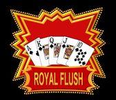 Royal flush logo červená — Stock fotografie