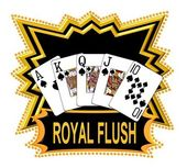 Preto do logotipo royal flush — Foto Stock