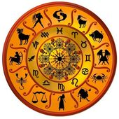 Zodiac Disc gold — Stockfoto