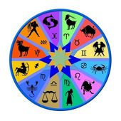 Zodiac Disc rainbow colored — 图库照片