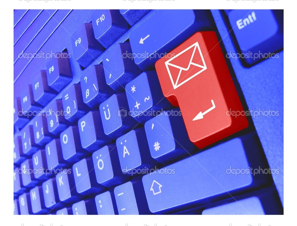 Special PC Keyboard Mail  Stock Photo #1825479