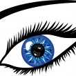 Blue Eye with lashes — Foto Stock