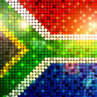 Sparkling flag of south africa — Stock Photo #2428693
