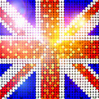 Stock Photo: Sparkling flag of united kingdom