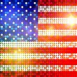 Stock Photo: Sparkling flag of america