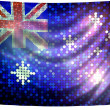 Stock Photo: Sparkling flag of australia