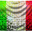 Sparkling flag of italy — Stock Photo