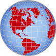 Foto Stock: Globe North South America
