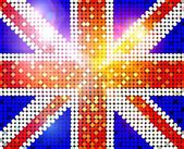 Sparkling flag of united kingdom — Stock Photo